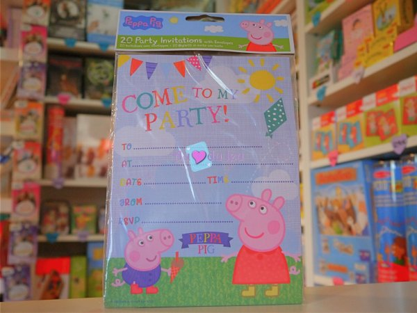 Cartes Invitation Peppa Pig