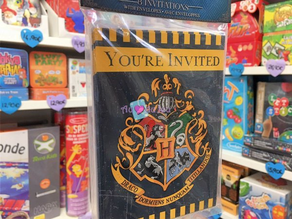 8 Cartes Invitations Harry Potter
