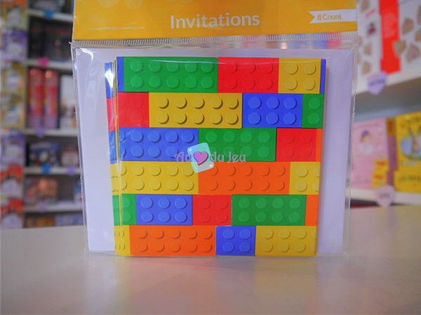 Cartes Invitations Lego