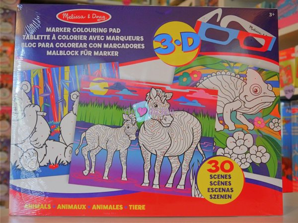 30 Coloriages 3D Animaux APLI Kids