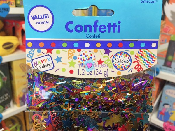 Confettis Happy Birthday