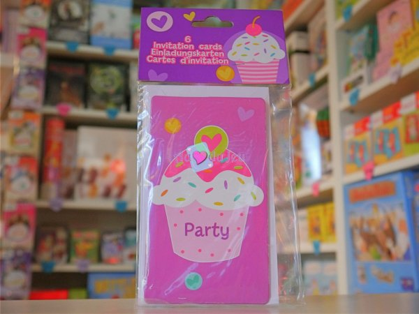 Cartes Invitations Cupcake