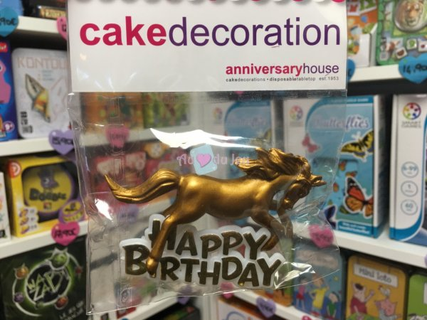 Décor Gateau Happy Birthday Licorne