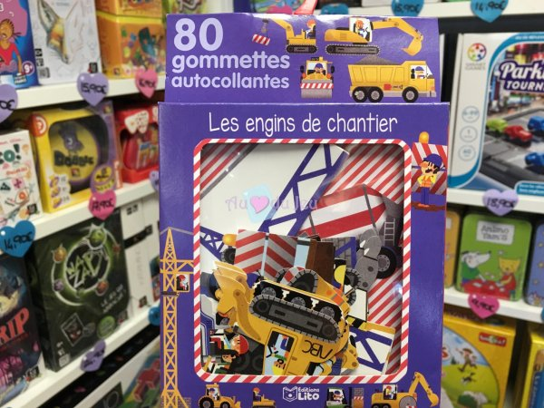 80 Gommettes Engins de Chantier Editions Lito