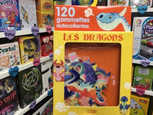 120 Gommettes Les Dragons Editions Lito
