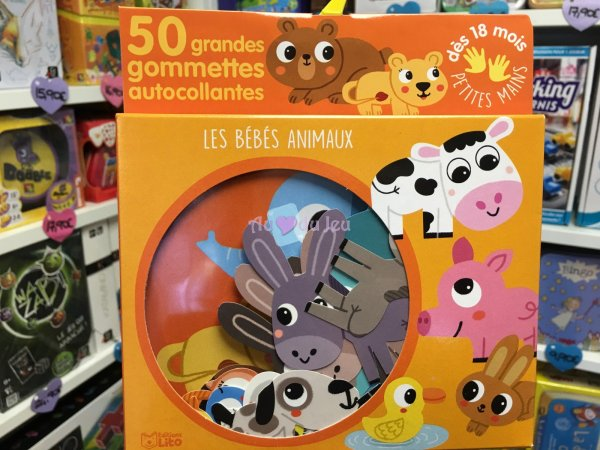 50 Gommettes Petites Mains Bebes Animaux Editions Lito