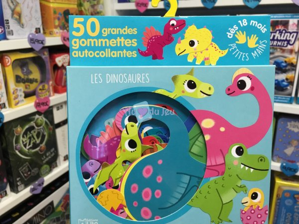 50 Gommettes Petites Mains Dinosaures Editions Lito