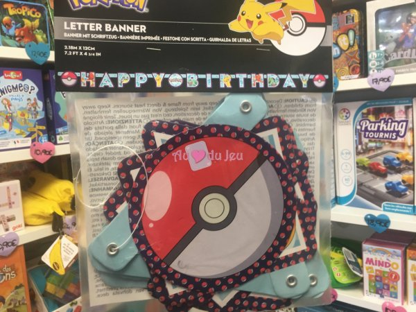 Guirlande Happy Birthday Pokemon