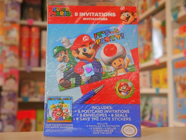Cartes Invitations Mario Bros