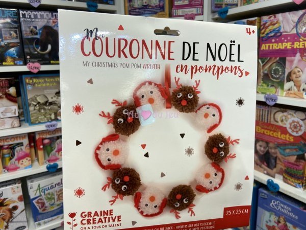 Kit Couronne Pompons Noel Graine Creative