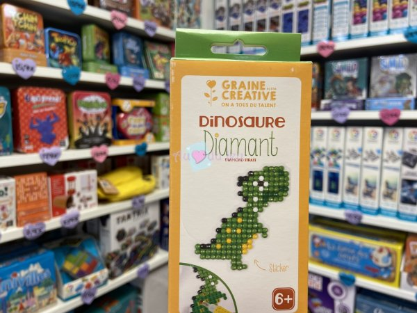 Kit Diamond Mosaique Sticker - Dinosaure