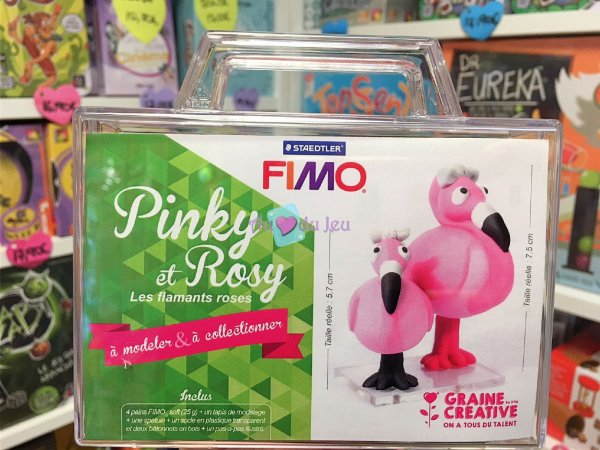 Kit Fimo Les Flamants Roses Pinky & Rosy Graine Creative