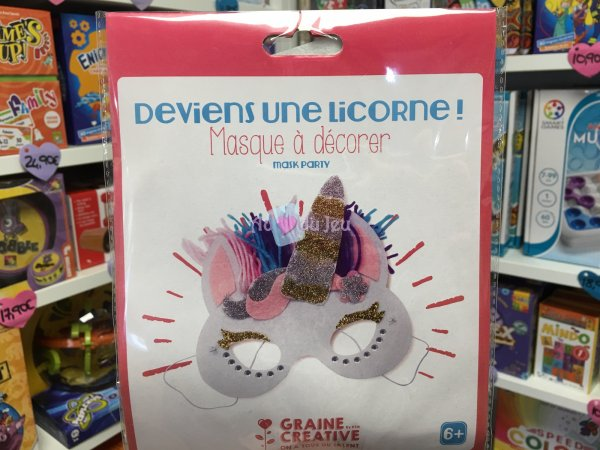 Kit Masque Feutrine Licorne Graine Creative