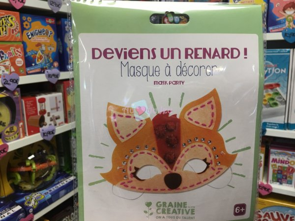 Kit Masque Feutrine Renard Graine Creative
