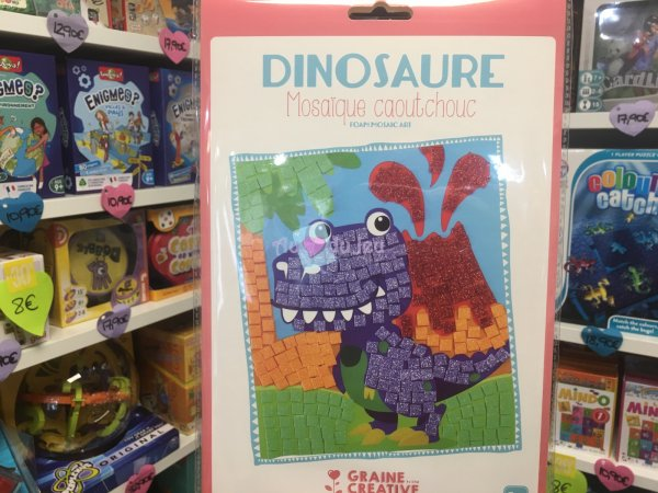 Kit Mosaique Souple Dinosaure Graine Creative
