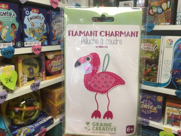 Kit Peluche à Coudre Flamant Rose Graine Creative