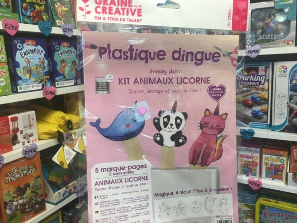Kit Plastique Dingue Animaux Licorne Graine Creative