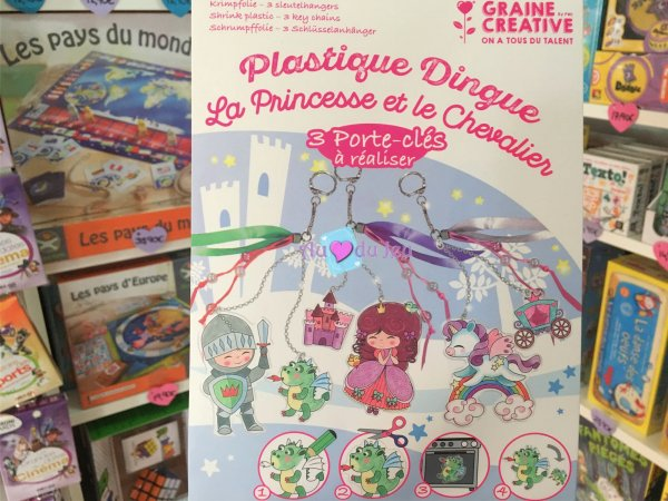 Kit Plastique Dingue - Princesse et Chevalier Graine Creative