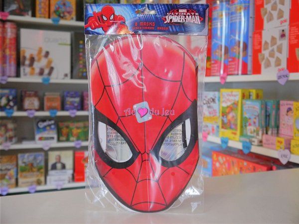 8 Masques Spiderman en carton