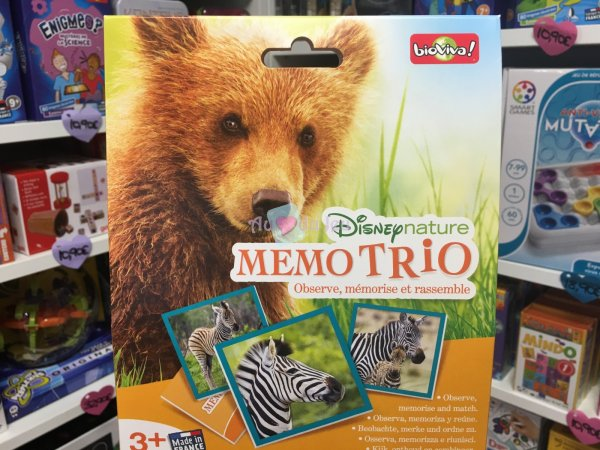 Memo Trio Disney Nature Bioviva