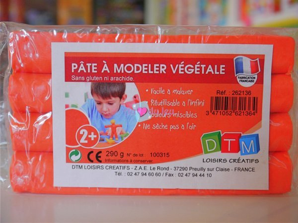 Pate A Modeler Vegetale Orange APLI Kids