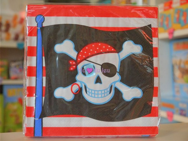 16 Serviettes Pirate