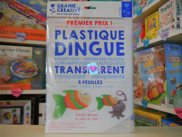 Plastique Dingue - 5 Feuilles Graine Creative