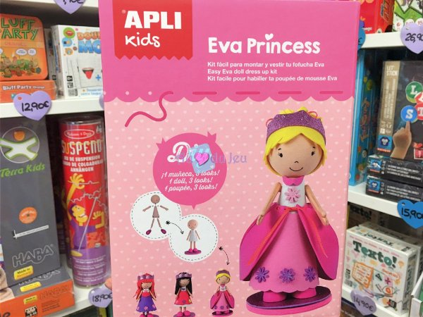 Poupée Mousse Eva Princess APLI Kids