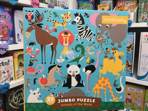 Puzzle Jumbo 25 Pièces - Animaux Mudpuppy