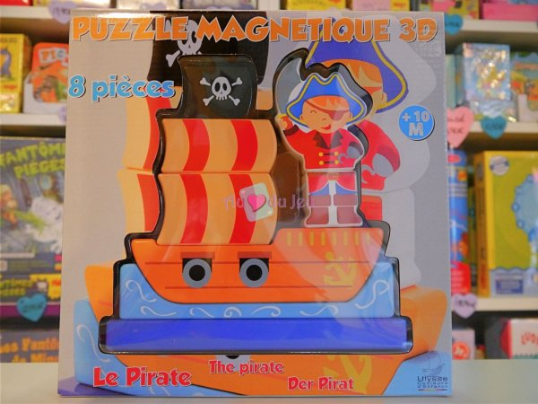 Puzzle Magnetique 3d Pirate Ulysse