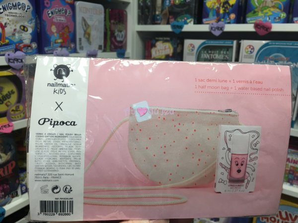 Sac Pipoca Demi Lune + Vernis Bella Nailmatic Kids
