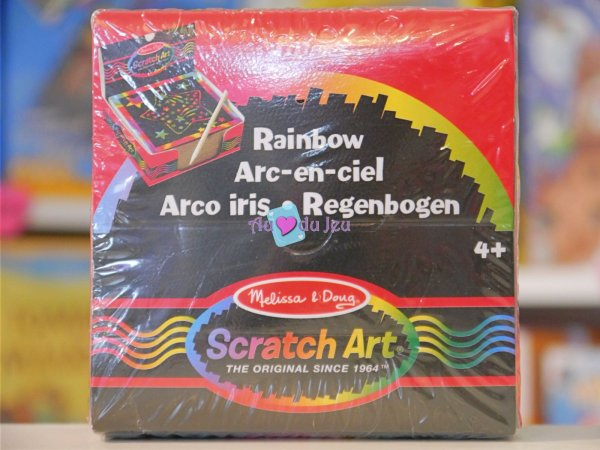 125 mini-feuilles Scratch Art - Bloc Note Melissa & Doug