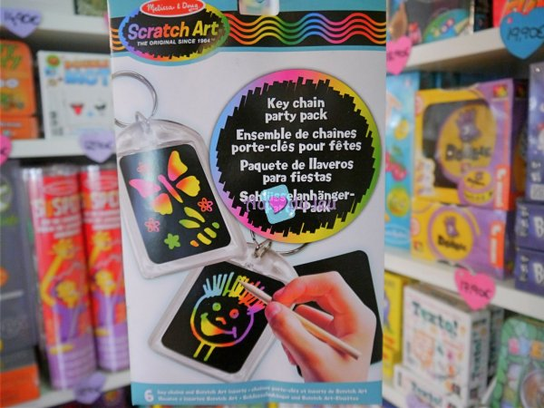 Scratch Art - Set Porte Clés Melissa & Doug