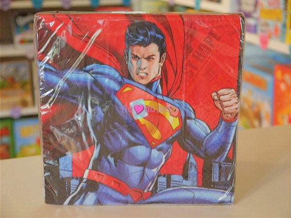 20 Serviettes Superman