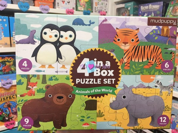 Set 4 Puzzles - Animaux