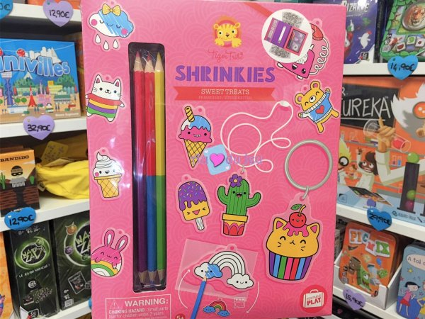 Shrinkies - Coffret Plastique Dingue Rose Tiger Tribe