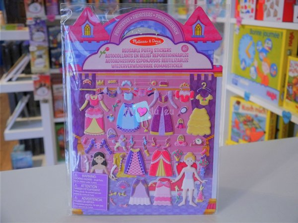 67 Stickers en relief Princesses Melissa & Doug