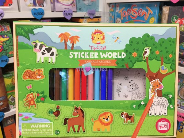 Mallette Stickers World - Animaux BERTOY