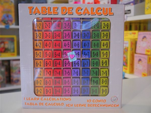 Table de Multiplication en bois Ulysse